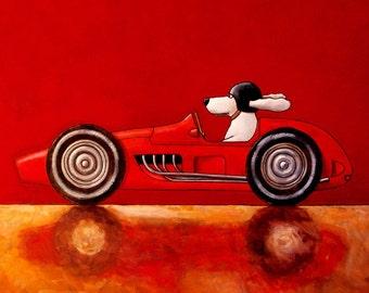 """019 Ferrari 625 - print 21x21cm/8.5x8.5"""""""