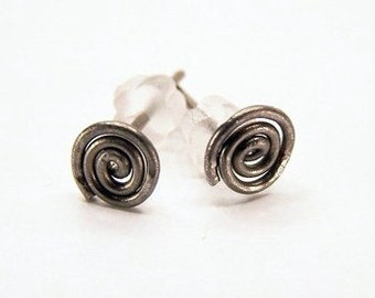 pure titanium stud post earrings for sensitive ears handmade by variya on etsy