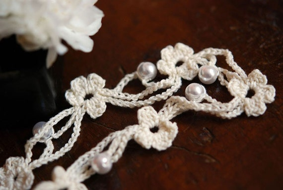 petal crochet necklace - RESERVED FOR RAE
