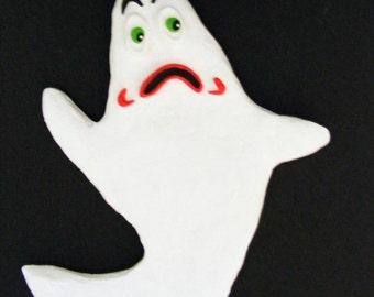 Halloween Folk Art Spooky Ghost Ornament