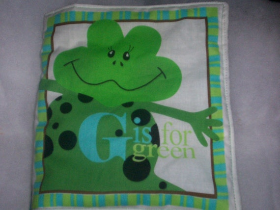G is for Green Soft Washable Cloth Book