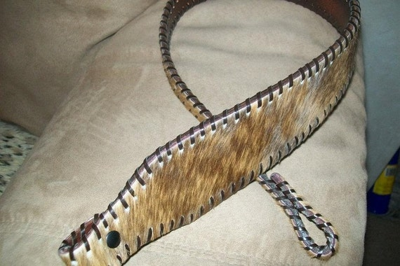 Hair on Cowhide Rifle Sling with Monogramming