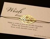 Wish Bracelet: Gold Leaf