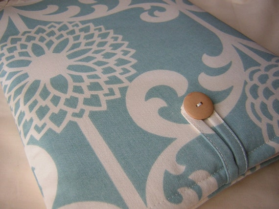 new iPad case, iPad, ipad 3, ipad 2 case, ipad 2 cover, hp touchpad case, Spa Blue Modern Flower Cover