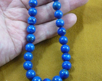 20 inch long Blue lapis lazuli round Beads bead beaded Necklace jewelry V657-24