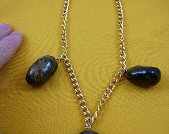 Real MOOSE POOP 3 doo doo nugget NECKLACE jewelry WEIRD PP40-2A
