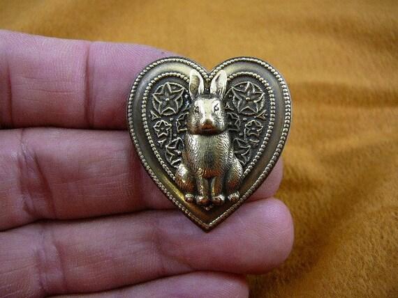 Bunny rabbit little fufu foo foo heart love pin pendant B-Bun-101