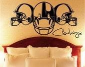 3 Helmet Football Vinyl Wall Decal