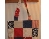 Patriotic  Patchwork  Crafter's Tote