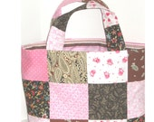 Peppermint Fudge Patchwork Crafter's Tote