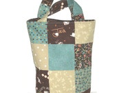 Cup 'O Joe Patchwork Knitter's Tote