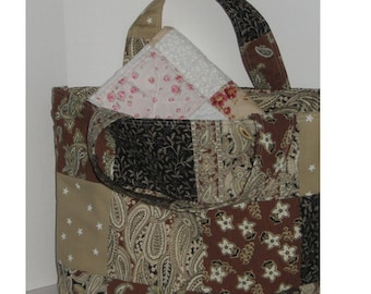 Chocolate Sundae Patchwork  Crafter's Tote