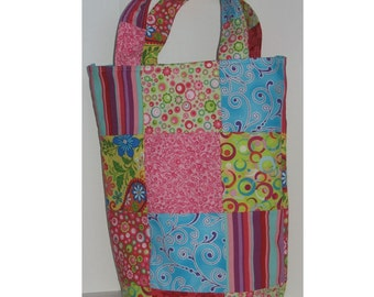 Topsy Turvy Patchwork Knitter's Tote