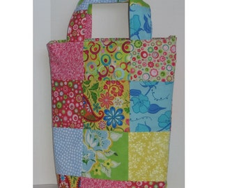 Kaleidoscope Patchwork Knitter's Tote