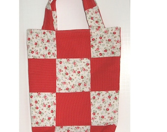 Old-Fashioned Knitter's Patchwork Tote