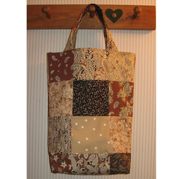 English Toffee Patchwork Knitter's Tote
