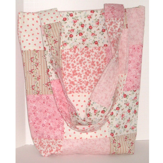 Pretty in Pink Patchwork Knitter's Tote