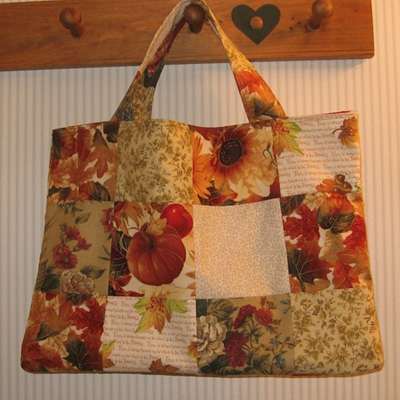 Down A Country Lane Crafter's Patchwork Tote