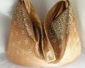 Gold Print hobo bag - One of a kind hobo handbag - READY TO SHIP