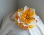 Floral headband in rich warm colours - Ready to ship One Size