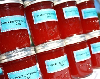 Homemade jam, Strawberry pineapple jam from Hopes Pantry, Fill your pantry with heaven 6 of our 8oz jars