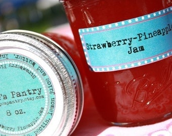 Homemade jam, 8 oz jar of our homemade strawberry pineapple jam by Hopes Pantry on Etsy