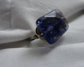 Super Chunky Blueberry Quartz Custom Size Ring
