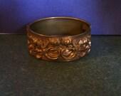 Bracelet- Vintage Brass Art Nouveau