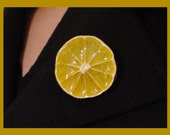 Delicious real Orange Brooch - FREE SHIPPING