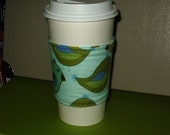 EcoSmart Coffee Cup Sleeve in Blue Bird and Polka Dots FREE Shipping to the US