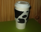 EcoSmart Coffee Cup Sleeve in the Bovine Spirit FREE SHIPPING in the US