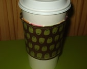 EcoSmart Coffee Cup Sleeve in stripes and brown FREE SHIPPING in the US