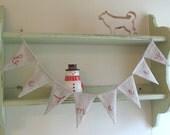 Be Merry - Small Linen Garland
