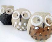 Vintage Modern Owl Figurines (Set of 3)