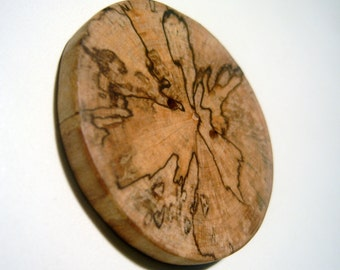 Wooden Button Large 2.25 inch Hand Made From Sycamore Tree Branch slice