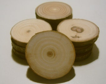 30 Branch Slices 1.5 inch  Wooden Craft Circles
