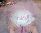 Custom Monogrammed Personalized Bloomers Diaper Covers Perfect for those Bottoms Up Days