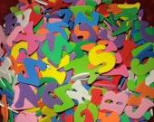 Lot of foam letters
