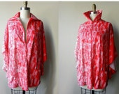 SALE 70's Mademoiselle red poncho