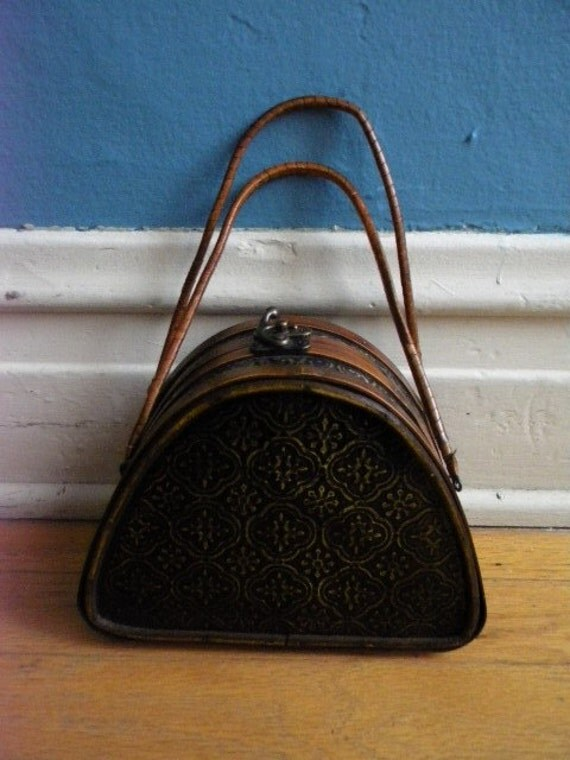 Extremely awesome wooden victorian purse