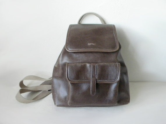 SALE 90s ESPIRIT brown faux leather backpack