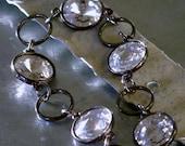 Gunmetal and Swarovski Crystal Circular Bracelet