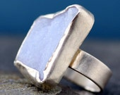 Periwinkle Blue Chalcedony in Sterling Silver Ring