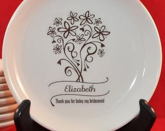 Personalized Bridesmaid Thank You Dish
