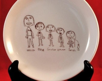 Your Custom Drawing or Letter on a Dish