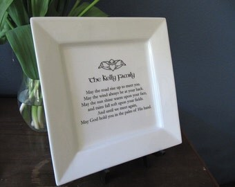 Personalized Irish Blessing Platter for Housewarming or Wedding