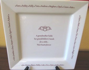 Personalized Grandma Platter with Grandchildren's Names