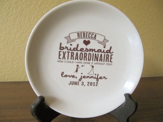 Bridesmaid Thank You Dish Personalized