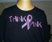 Think Pink Cancer Awareness shirt Custom Design
