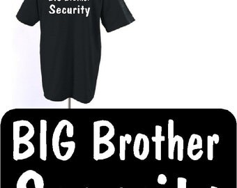 Big Brother shirt Big Brother Shirt, Big Brother Security, gift ideas, pregnancy announcement, gift ideas,